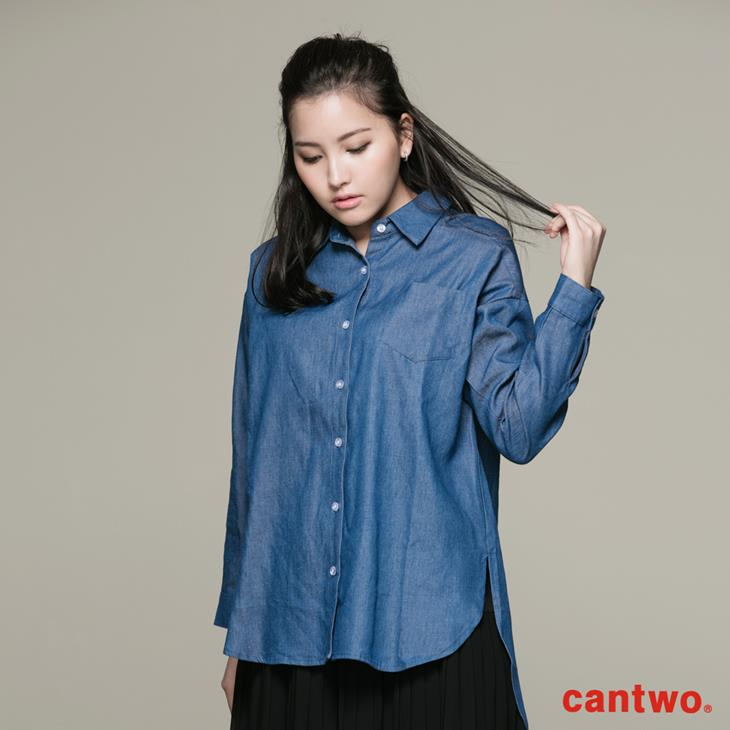 cantwo丹寧感長袖襯衫(共一色) 0
