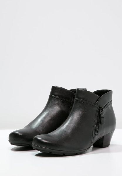 Gabor 歐美側拉鍊時尚踝靴 黑 2
