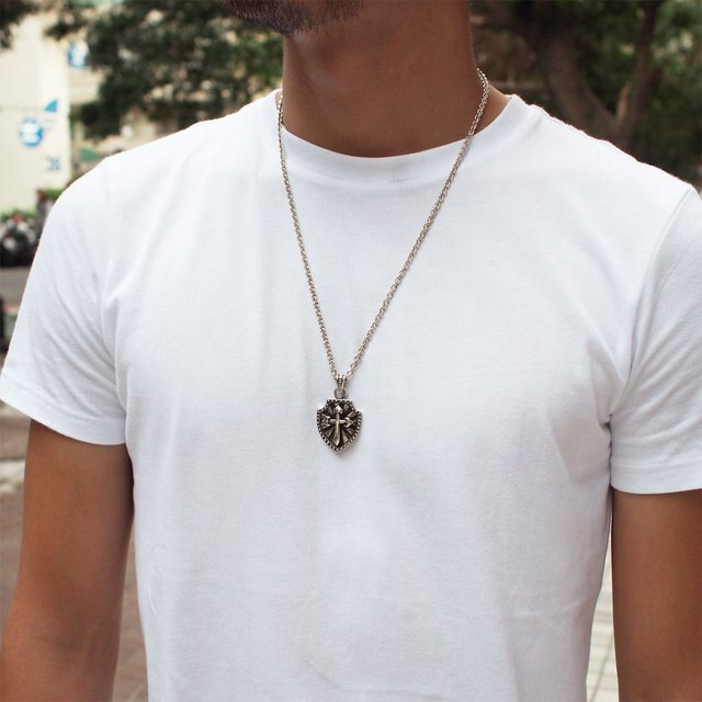 【海外訂購】【Leathers&Treasures】POLLICINO CROSS 十字劍純銀墜飾(JLTP118  0813960000) 3