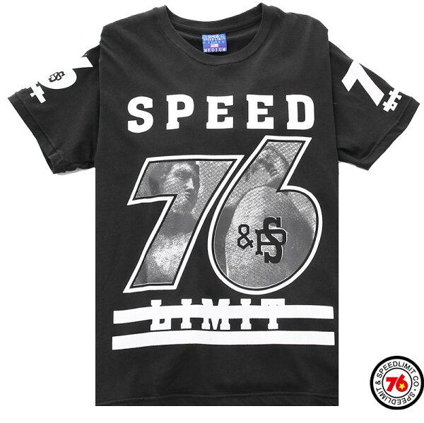 Speed 76 Limit。數字系列圓領短T