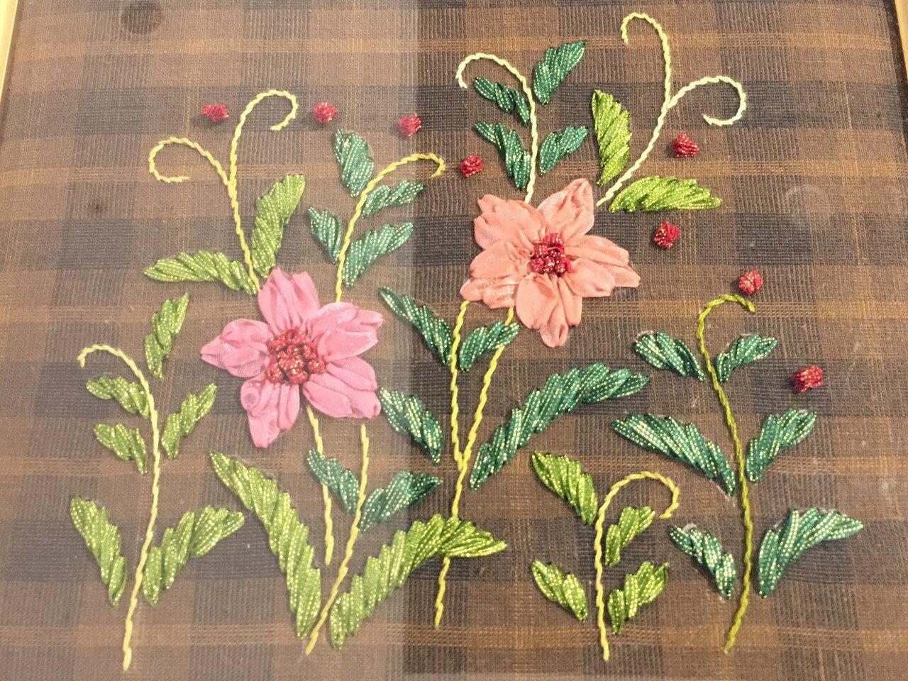 DIY手作-緞帶刺繡材料包(花環) 2