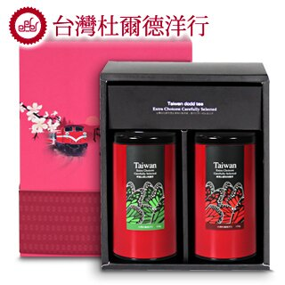 【杜爾德洋行 Dodd Tea】【精選2入禮盒】阿里山高山烏龍茶+凍頂山碳培烏龍茶 0