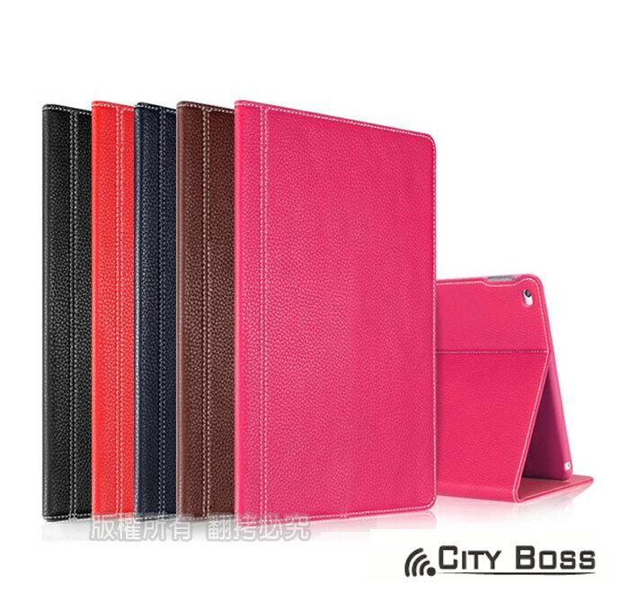iPad Air2 平板保護套 CITY BOSS 完美頭層真牛皮 Apple AIR 2/iPad5 真皮平板側掀保護皮套/隱形 磁扣/磁吸/背蓋/支架/軟殼/保護殼/保護套