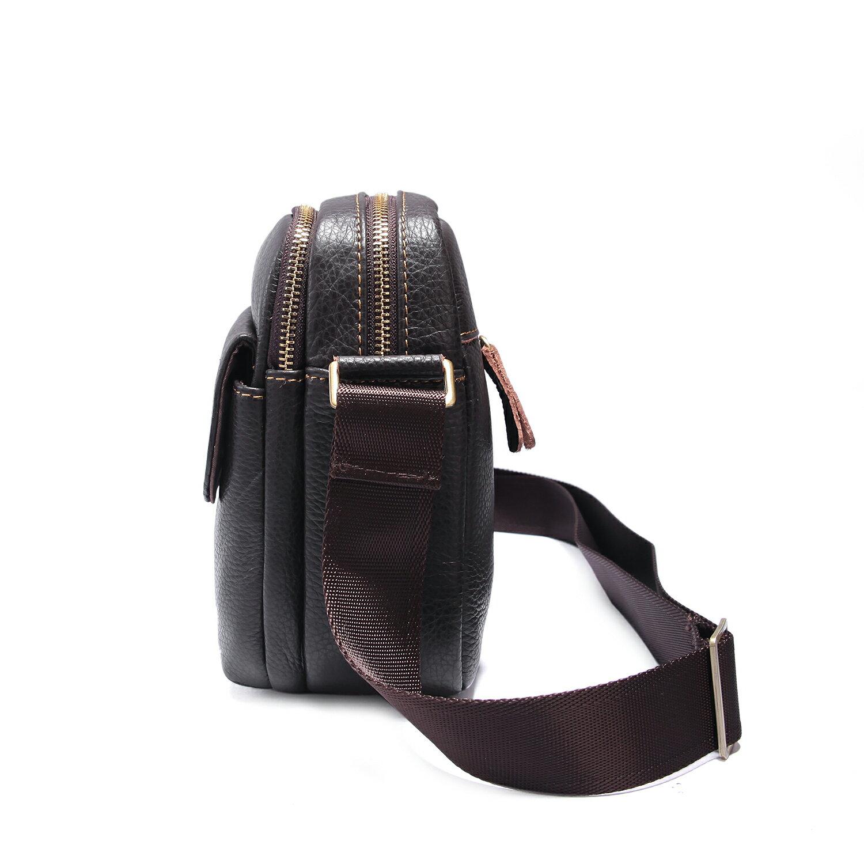 【BEIBAOBAO】韓版質感真皮側背包(共兩色  時尚黑) 5
