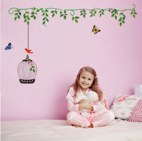 【壁貼王國】 園藝系列無痕壁貼 《鳥籠 - AY615》