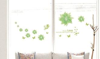 【壁貼王國】 園藝系列無痕壁貼 《Love花/G - AY932》