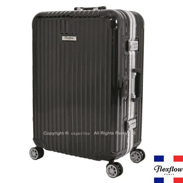 【騷包館】Flexflow 羅亞爾旅人 26吋 世界第一智能秤重鋁框飛機輪行李旅行箱 黑 FLG16PRL26