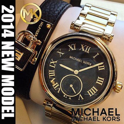 美國Outlet正品代購 MichaelKors MK 復古羅馬鑲鑽金   陶瓷  三環 手錶 腕錶 MK5957