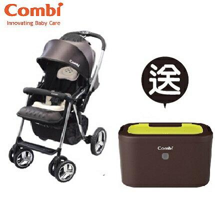 【本月贈市價$1980濕紙巾保溫器】日本【Combi】Mega Ride DX 嬰兒手推車-黑 (1~48個月)(預購11月中到貨) 0