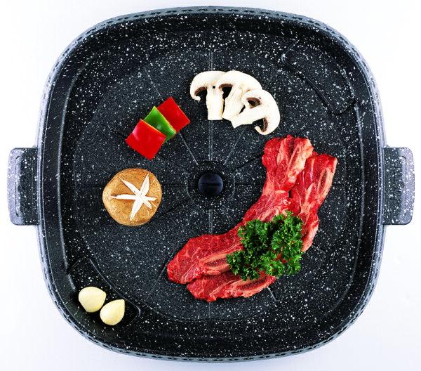 【韓國Joyme】韓國Joyme新一代兩用烤盤/不沾鍋烤盤/韓國烤盤(方形)PA02