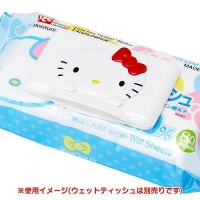 現貨 日本帶回 三麗鷗 KITTY 可重複黏貼 濕紙巾蓋 濕巾蓋