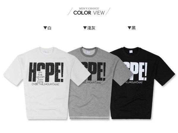 ☆BOY-2☆【PPK86131】韓版HOPE寬鬆男裝七分袖T恤 1