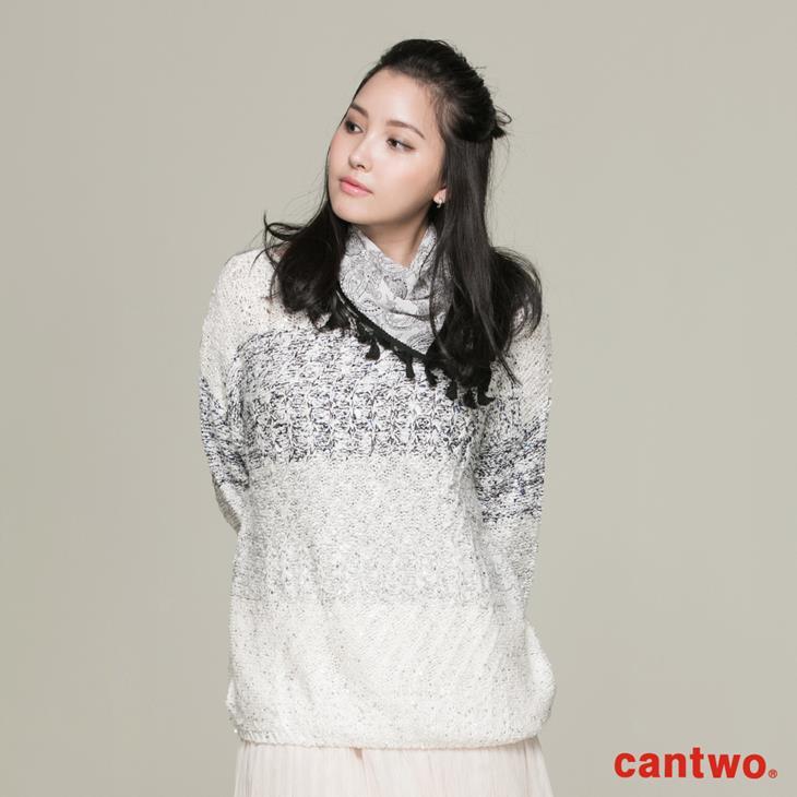 cantwo混色亮片針織上衣(共一色) 0