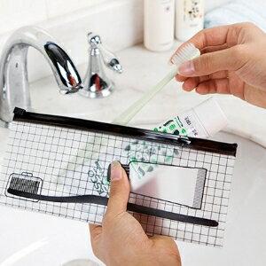 美麗大街【BF82E3E828】SAFEBET透明PVC防水自封袋 旅行洗漱收納袋(小號)