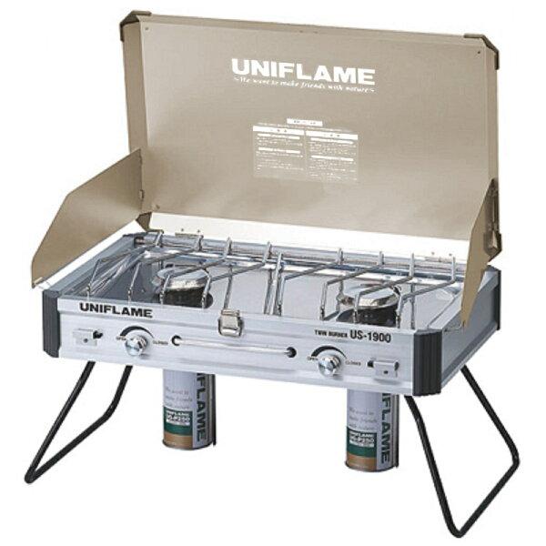 UNIFLAME US-1900瓦斯雙口爐/瓦斯爐 香檳金台灣限定版 日本製 U610329