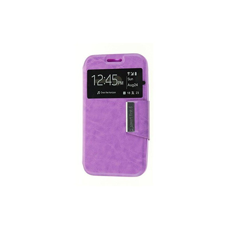 Funda CUERO Tipo LIBRO VENTANA Stand Vodafone Smart First 6 / Alcatel One Touch Pixi 3 (4) 1