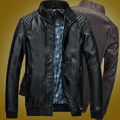 皮衣機車外套-舒適有型時尚帥氣男外套2款72c17【獨家進口】【米蘭精品】