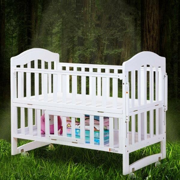 實木嬰兒床 多功能加大嬰兒床 大床 幼兒床 遊戲床 搖床 可變沙發 書桌