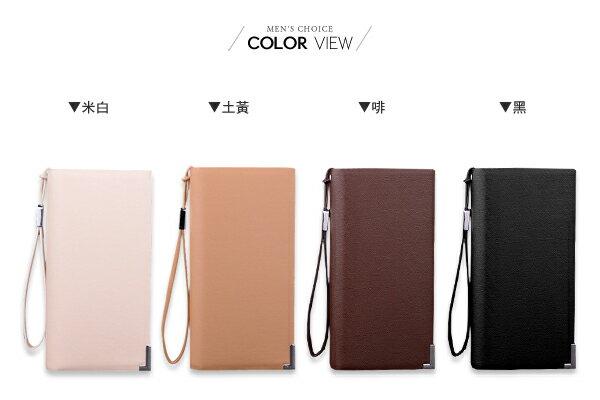 ☆BOY-2☆【NQA5048】手包 斜紋時尚質感手拿包長皮夾 大容量 1