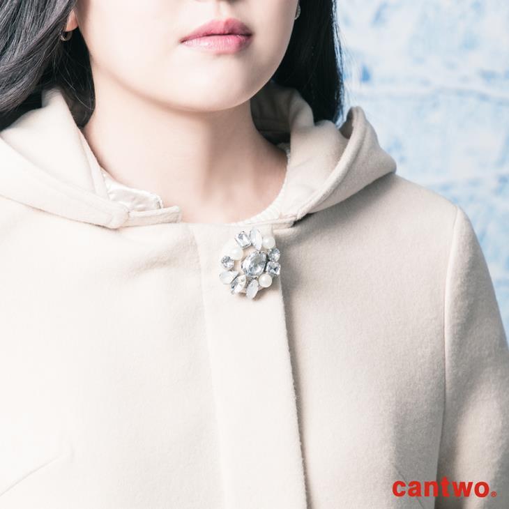 cantwo鑽飾連帽長版大衣(共二色) 4