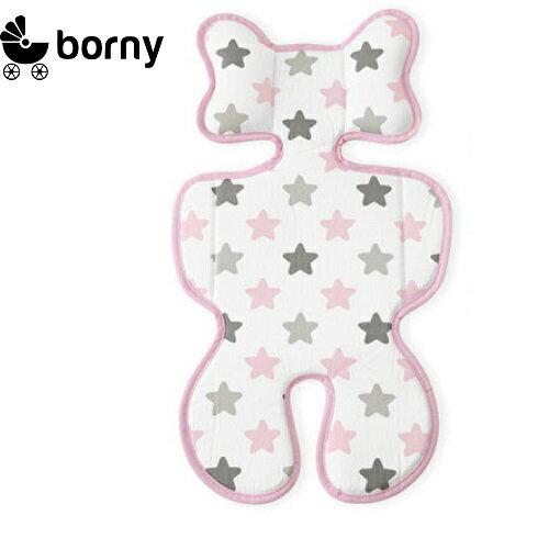 韓國【 Borny 】3D 立體推車涼墊(推車、汽座適用)  (蜜糖粉) 0
