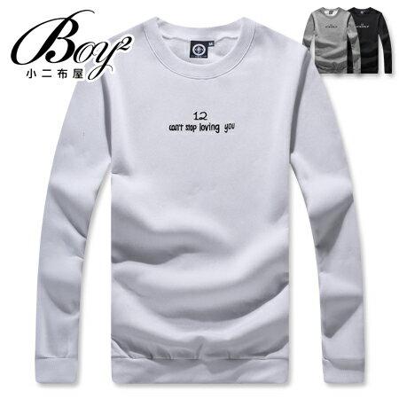 ☆BOY-2☆ 【KK6852】韓版簡約字母長袖T恤 0