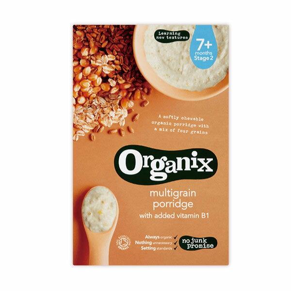 『121婦嬰用品館』英國Organix 有機綜合全榖麥精200g 0
