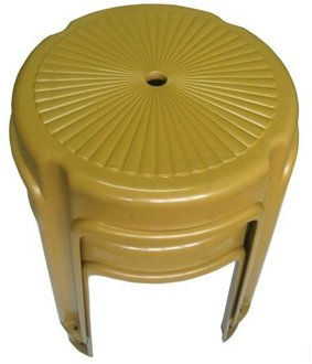 上攸-超厚板凳/塑膠椅/圓板凳/餐廳桌椅*5入(臺灣製造)