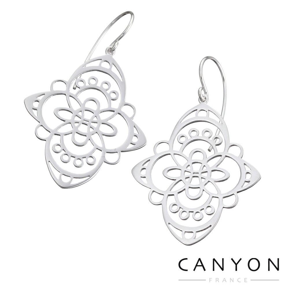 【canyon】艺术雕花菱形耳环