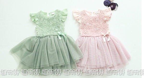 【XT019】雪仿波浪洋裝 女童連衣裙 公主裙 小洋裝 婚禮喜宴畢典 (100cm-130cm)