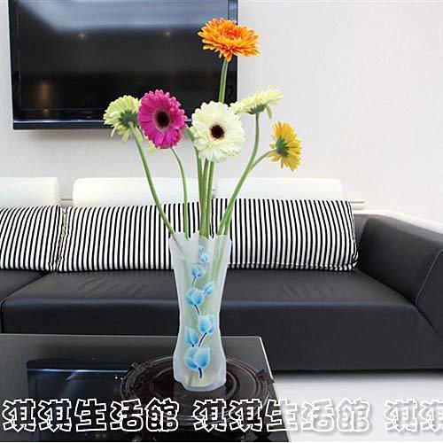 淇淇婦幼館【QQ093】韓國魔術花瓶 /PVC摺疊花瓶,也可做小魚缸,好收納,不怕摔(生活館)