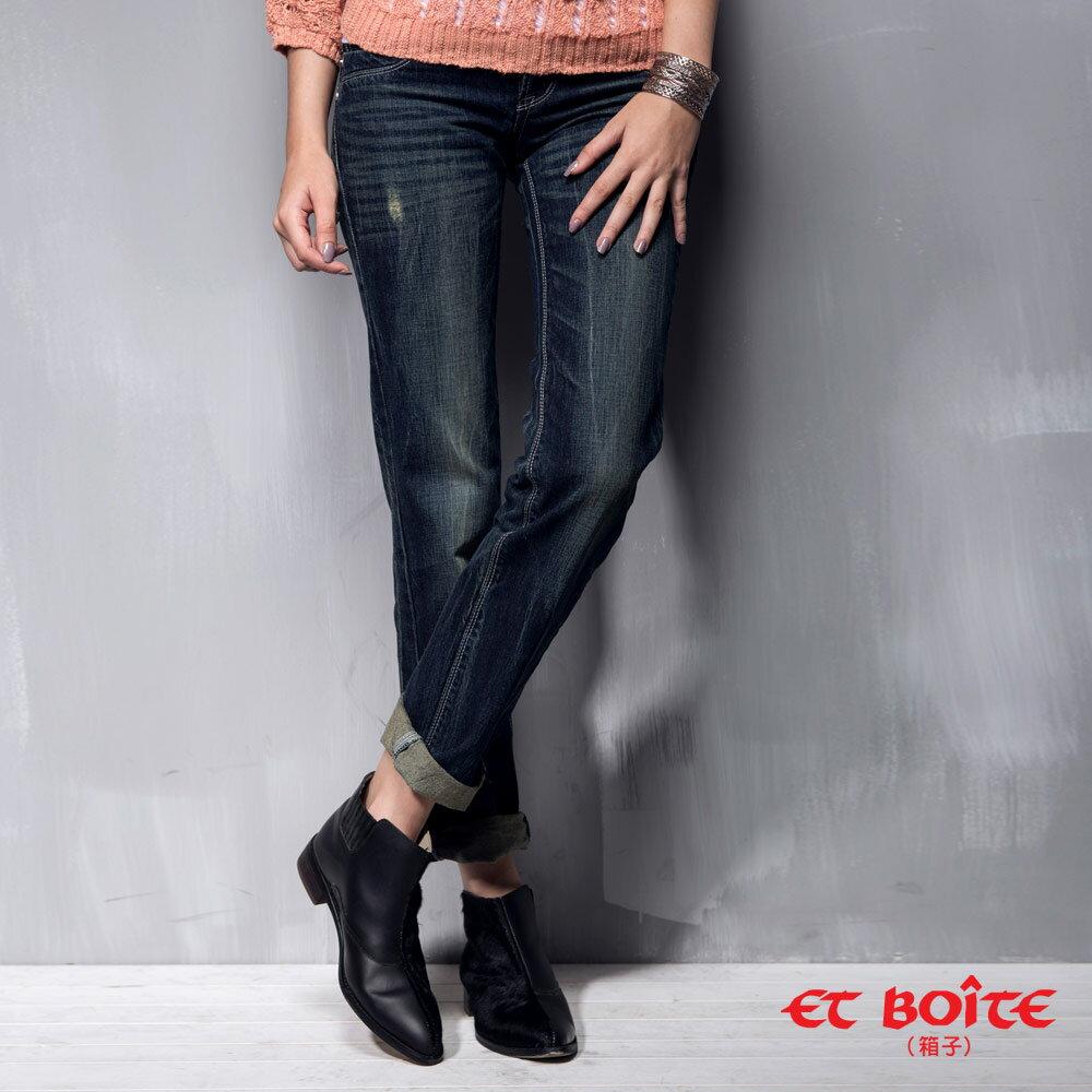 【ET BOiTE 箱子】男友風刷色牛仔褲(共2色) 3