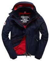 Superdry極度乾燥商品推薦[男款] Outlet英國 極度乾燥 Pop Zip Hooded系列 男款 三層拉鍊 連帽防風衣夾克 海軍藍/叛逆紅