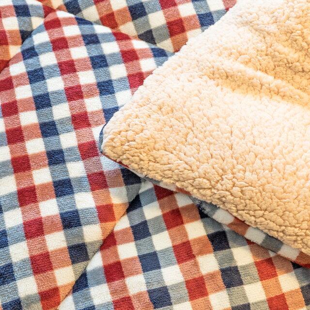 經典格子 羊羔絨暖被 內有充棉 可當棉被使用 150cmX195cm (正負5cm) 4
