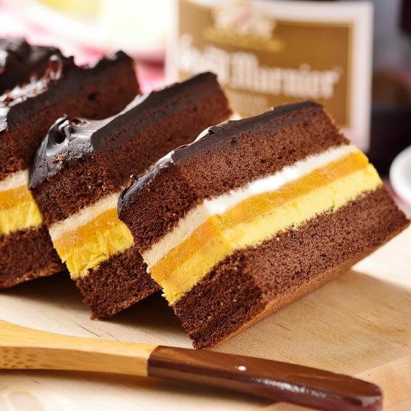 ~喬伊絲~芒果提拉可可蛋糕~香濃巧克力蛋糕與清甜芒果慕斯結合提拉米蘇餡,清爽不膩口,冷凍過