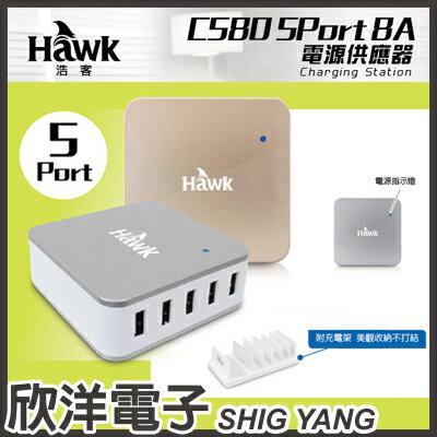 ※ 欣洋電子 ※ Hawk C580 5Port 8A電源供應器 (01-HUC580) / 香檳金、時尚銀 兩款色系自由選購