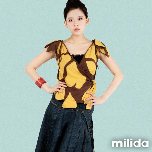 【milida】☆春夏商品☆無袖款☆造型綁帶T恤