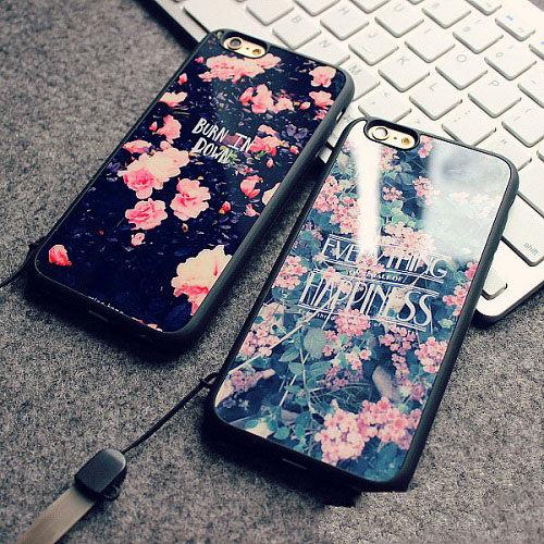 PS Mall 時尚復古印花鏡面手機保護套4.7吋 5.5吋矽膠手機殼 適用iphone6 6pius IPHONE5【J1369】