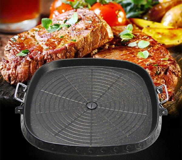 【露營趣】中和 TNR-213 高級韓式排油烤盤 韓國烤盤 排油烤盤 燒烤盤 瓦斯爐烤盤