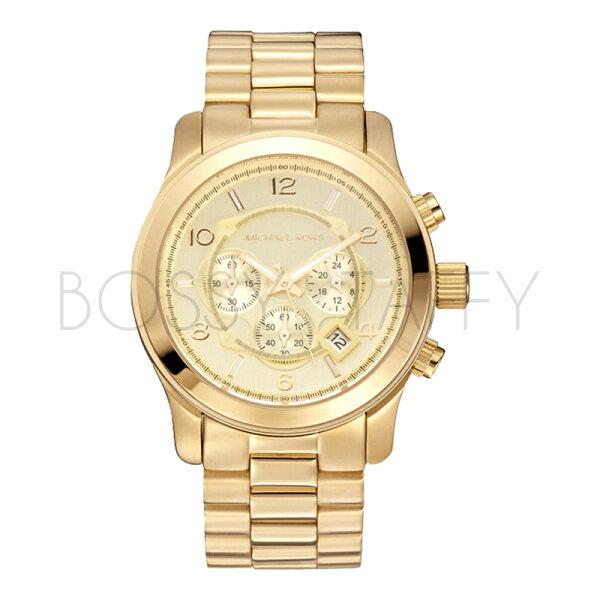 MK8077 MICHAEL KORS 時尚金色不銹鋼石英中性錶 男錶 女錶 手錶