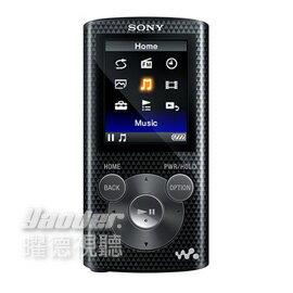 【曜德★買一送二】SONY NWZ-E383 酷酷黑 4GB 數位隨身聽 享受震撼低音 ★免運★送絨布袋+USB旅充★