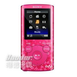 【曜德★買一送二】SONY NWZ-E383 桃愛粉 4GB 數位隨身聽 享受震撼低音 ★免運★送絨布袋+USB旅充★