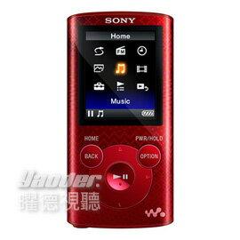 【曜德★買一送二】SONY NWZ-E383 恣戀紅 4GB 數位隨身聽 享受震撼低音 ★免運★送絨布袋+USB旅充★