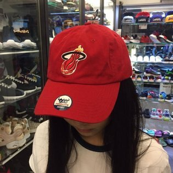 BEETLE OLD NAVY 老帽 邁阿密 熱火 MIAMI HEAT DAD HAT NBA 全紅 經典 LOGO MN-395
