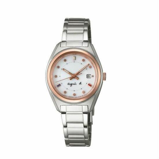 agnes b V137-0BJ0S(BY2002P1)法式浪漫太陽能腕錶/白面28mm