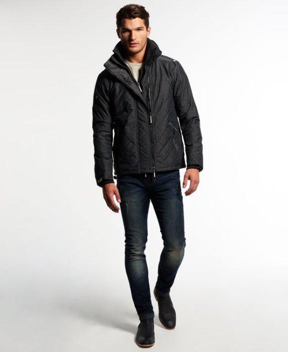 [男款] 英國代購 極度乾燥 Superdry Quilted Arctic Windcheater 男士 絎縫防風衣夾克 黑灰 2