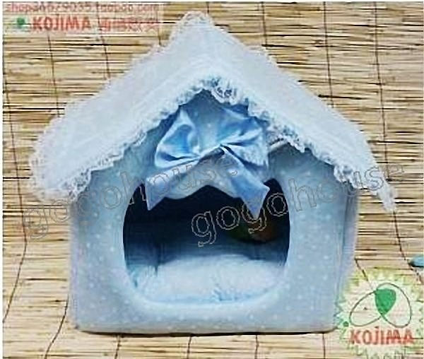 ☆狗狗之家☆日本KOJIMA麂皮絨點點王子組合式狗屋/床/窩(大)~藍色