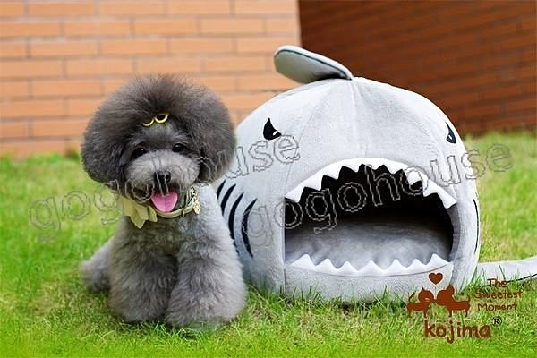 ☆狗狗之家☆日本KOJIMA鯊魚造型寵物睡窩~小(適4公斤以下)