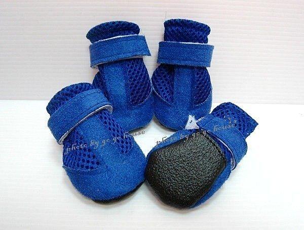 ☆狗狗之家☆藍色網狀透氣麂皮輕便鞋(好走/易適應)
