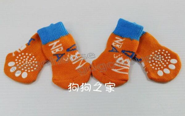 ☆狗狗之家☆保暖防滑寵物襪子~字母NBA